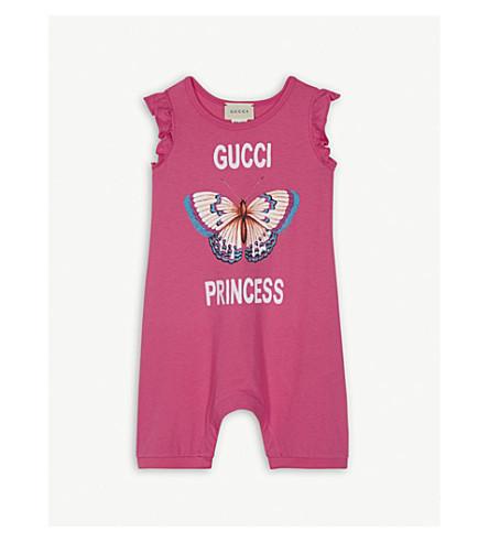 GUCCI Gucci Princess cotton sleepsuit 3-24 months (Fuscia