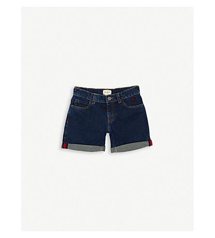 GUCCI Heart-appliqué denim shorts (Blue