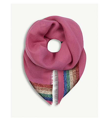 GUCCI Loved rainbow cotton shawl (Pink