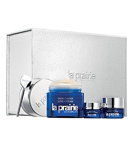 La prairie the skin caviar collection gift set for La cabine skincare