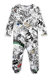 STELLA MCCARTNEY Rufus comic print bodysuit 3-12 months
