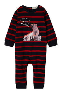 STELLA MCCARTNEY Dewberry striped bear sleepsuit 3-12 months