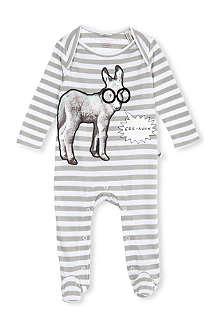 STELLA MCCARTNEY Rufus donkey print babysuit 3-9 months