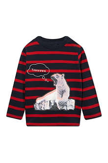 STELLA MCCARTNEY Striped polar bear t-shirt 9-24 months