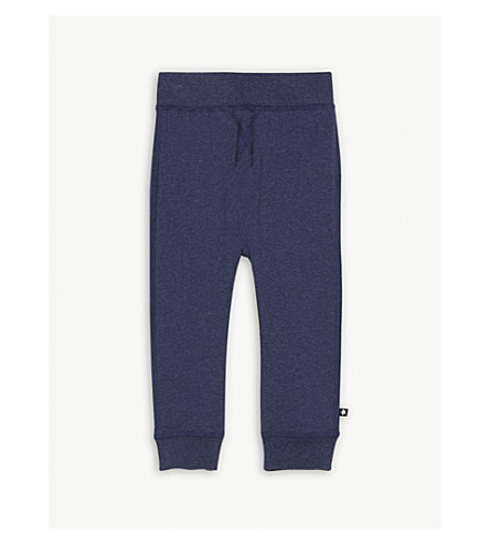 MOLO Sammy cotton-blend jogging bottoms 3-24 months (Blue
