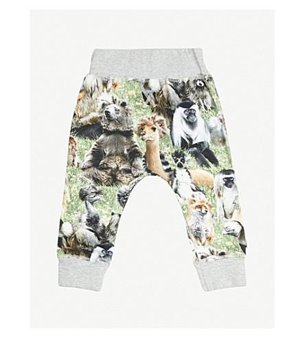 MOLO Sammy animal-print stretch-cotton jogging bottoms 3-24 months (Green