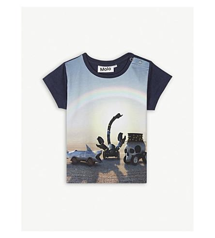 MOLO Eddie cotton-blend t-shirt 3-24 months (Blue