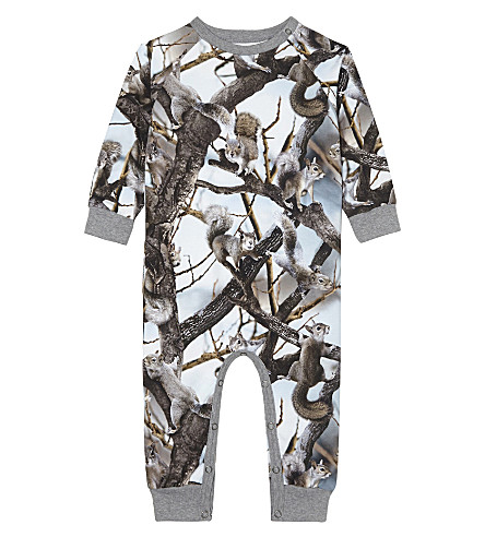 MOLO Fairfax squirrel cotton baby-grow 3-12 months (4619