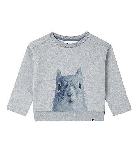 MOLO Squirrel cotton-blend sweatshirt 3-24 months (2287