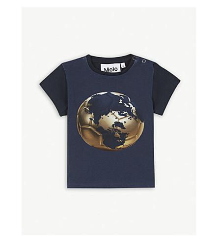 MOLO 艾迪足球棉混合 T 恤 3-24 月 (海军