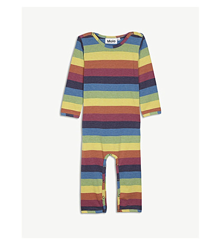 MOLO Falcone rainbow cotton-blend baby grow 3-18 months (Multi