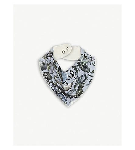 MOLO Liazrd-print stretch-cotton bib (Grey