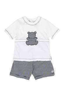 EMILE ET ROSE Striped top and shorts set 1-9 months