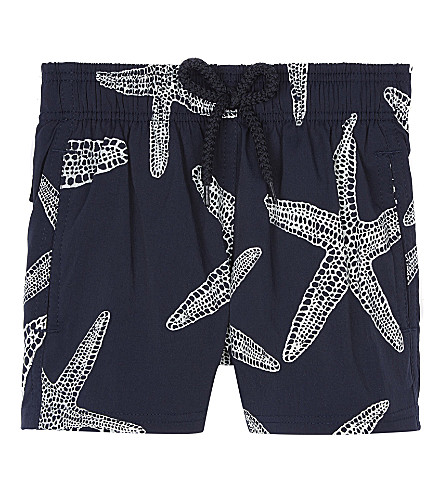 VILEBREQUIN Glow in the dark starfish swim shorts 2 years (Navy