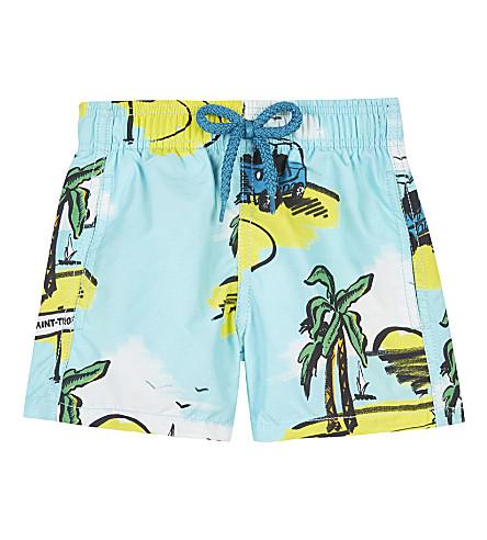 VILEBREQUIN Jim island nylon swim shorts 2 years (Turquoise