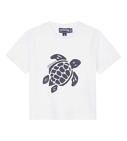 VILEBREQUIN Turtle cotton T-shirt 2 years (White