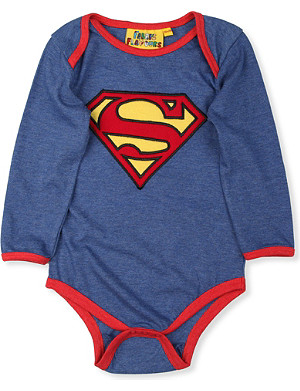 FABRIC FLAVOURS Superman baby-grow 0-18 months