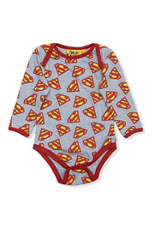 FABRIC FLAVOURS Superman logo print baby-grow 0-18 months