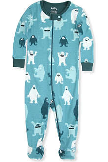 HATLEY Monster-print baby-grow 3-24 months