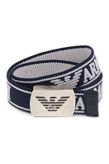 ARMANI JUNIOR Branded canvas belt 6-18 months