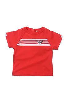 ARMANI JUNIOR Striped logo t-shirt 6-24 months