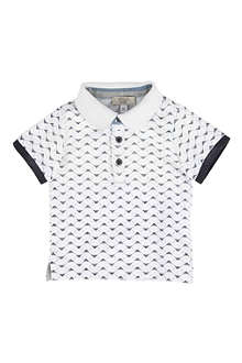 ARMANI JUNIOR Logo print polo shirt 6-24 months