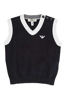 ARMANI JUNIOR Knitted vest 6-24 months