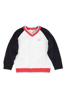 ARMANI JUNIOR V-neck jumper 6-24 months