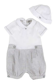 ARMANI JUNIOR Baby-grow and hat set 1-9 months