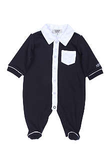 ARMANI JUNIOR Logo detail sleepsuit 1-9 months