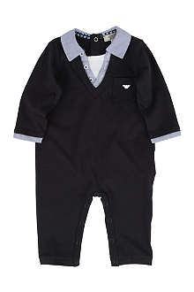 ARMANI JUNIOR Layered baby-grow 1-9 months