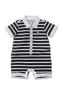 ARMANI JUNIOR Striped jersey baby-grow 1-9 months