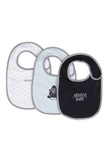 ARMANI JUNIOR Three-pack bibs set