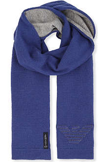 ARMANI JUNIOR Reversible logo scarf