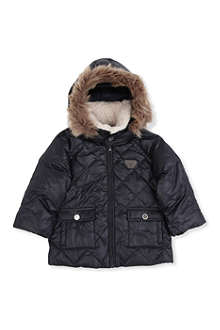 ARMANI JUNIOR Hooded parka 3 months-24 months
