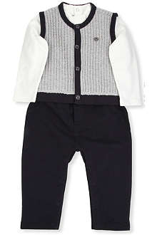 ARMANI JUNIOR Armani two-piece set 1-12 months