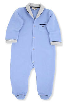 ARMANI JUNIOR Quilted shawl neck bodysuit 1-12 months