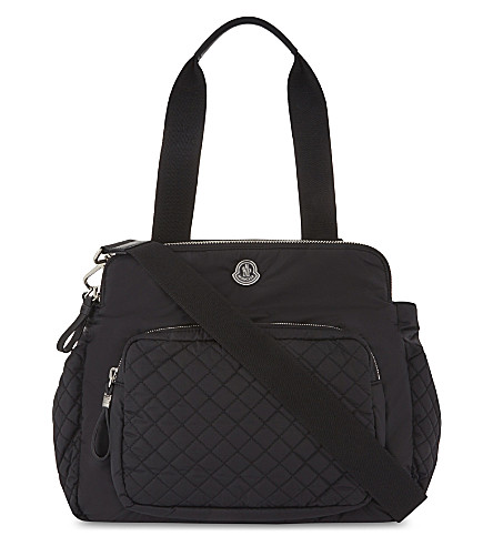 MONCLER Quilted changing bag (Black
