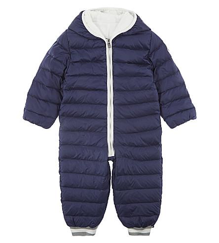 MONCLER Fulbert nylon snowsuit 3-18 months (Navy
