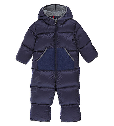MONCLER Herve quilted snowsuit 3-24 months (Navy