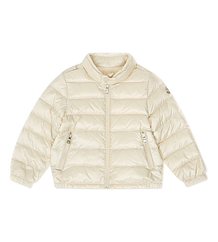 MONCLER Acorus classic puffa jacket 6-24 months (Cream