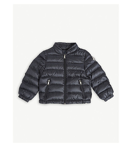 MONCLER Acorus classic puffa jacket 6-24 months (Navy
