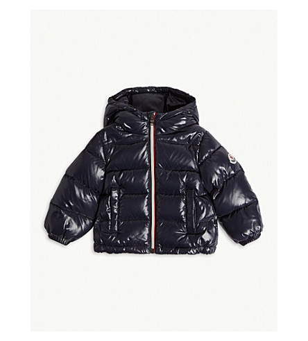 MONCLER New Aubert quilted puffer jacket 6-36 months (Navy