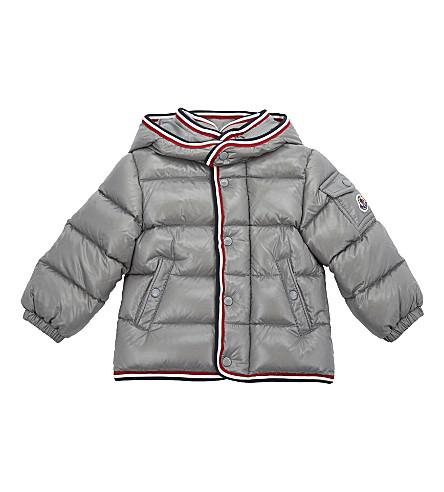 MONCLER Abelard down puffa jacket 6-36 months (Grey