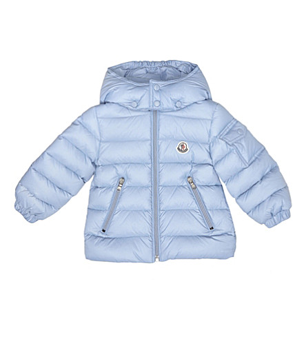 MONCLER Jules puffer jacket 6-36 months (Pale+blue