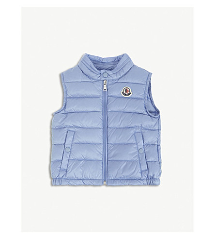 MONCLER Amaury quilted gilet 3-36 months (Blue