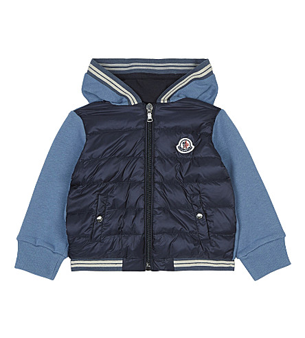 MONCLER Maglia hooded jacket 6-36 months (Navy