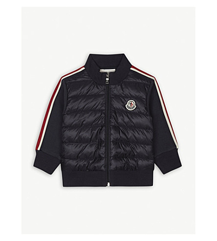MONCLER Quilted cotton jacket 3-36 months (Navy