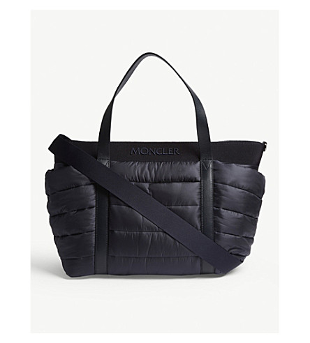 MONCLER Quilted baby changing bag (Dark navy