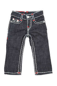 TRUE RELIGION Super T red detail slim-fit jeans 6-24 months